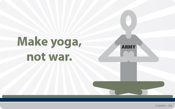 yogapx - Yoga Illustration: Make yoga, not war.