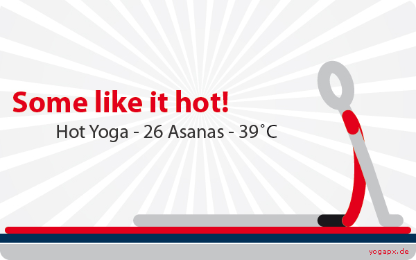 yogapx - Yoga Illustration: Some like it hot. 26 Asanas - 39 Celsius.